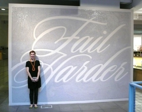swissmiss | Fail Harder #tack #mural