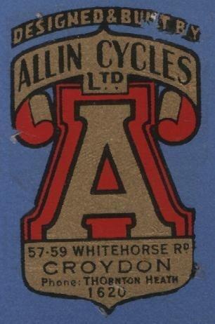 Allin Cycles Ltd #logo #vintage #bike