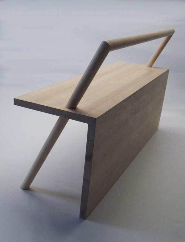 Bench with Rail #design #minimalism #furniture #skate #minimal