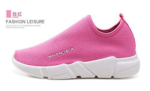 AKexiya WMNS Free Transform Flyknit Women Casual Athletic Tennis Walking Sneakers (8US-Women, Pink)