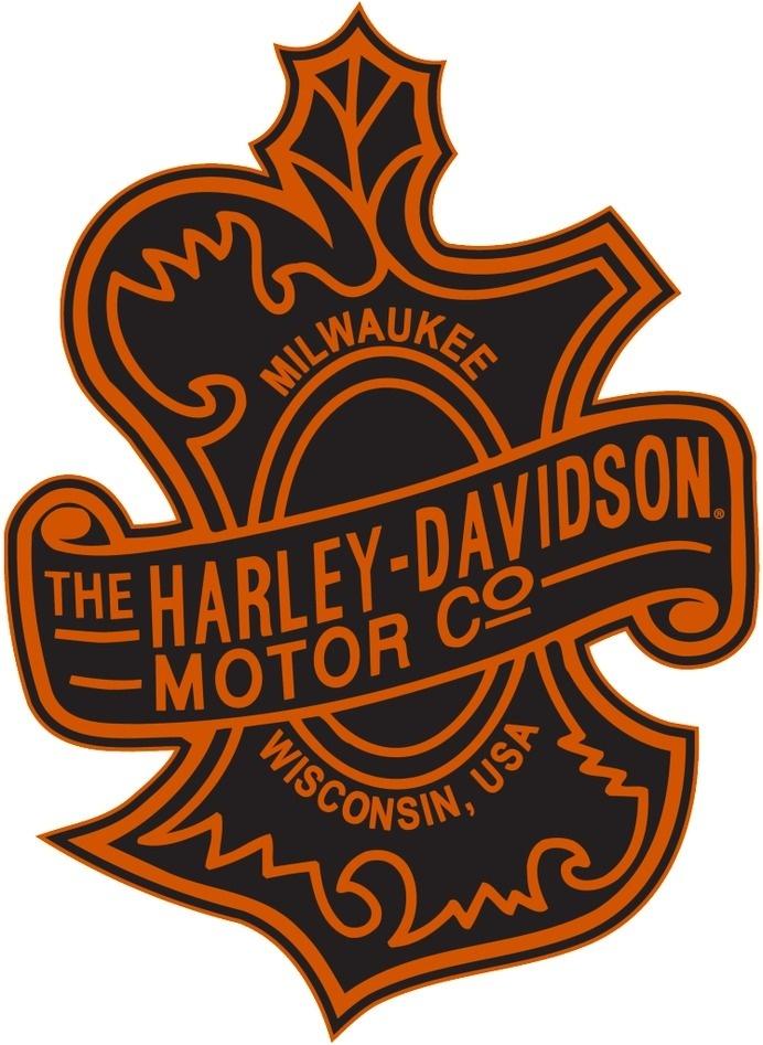 logo, harley-davidson, oak leaf, leaf