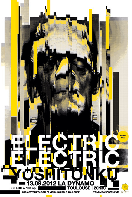 ELECTRIC ELECTRIC - Romain Barbot   IAMSAILOR #design #graphic #poster