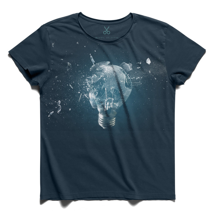 #end of ideology #darkblue #tee #tshirt #bulb #broken #smithereens #inpieces #discovery #politic