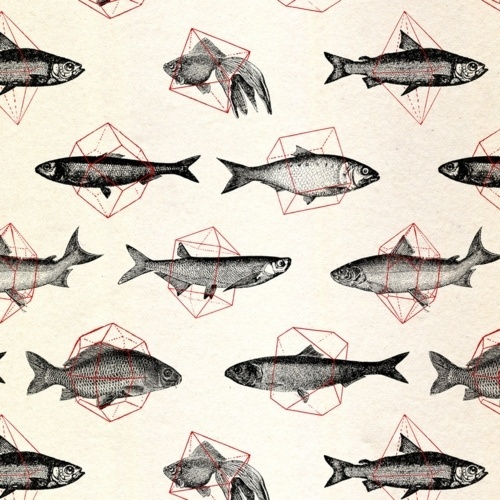 An Adventure of Inevitable Chance #illustration #fish #pattern