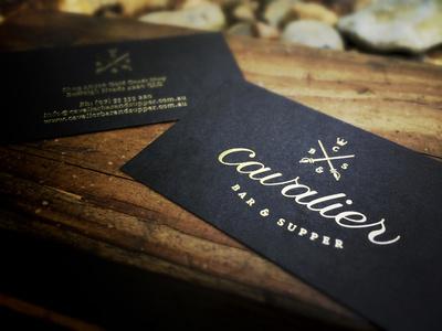 Cavalier Business Cards #logo #card #business