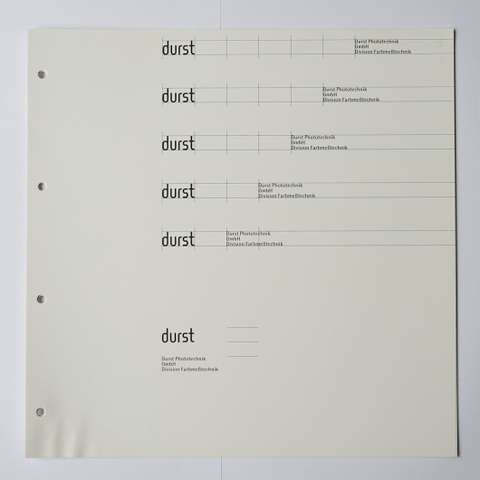 All sizes | Otl Aicher, Albrecht Hotz: Handbuch des visuellen Erscheinungsbildes von durst, Brixen | Flickr - Photo Sharing! #otl #print #design #graphic #identity #aicher
