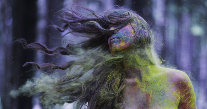 #photo #color #rainbow #hair Eva Dang