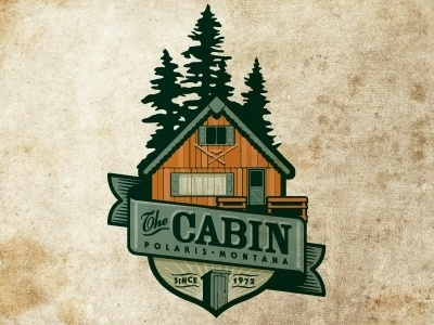 Dribbble - The Cabin by Jerron Ames #logo #badge