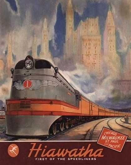 All Aboard: Extraordinary Vintage Railway Posters | webexpedition18 #train #logotype #script #travel #illustration #poster