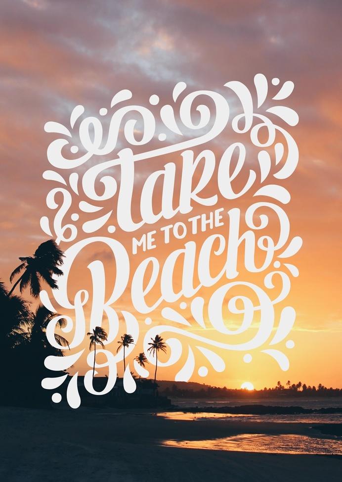 TAKE ME TO THE BEACH on Behance