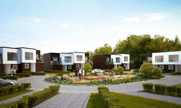 Architectural visualization #cotages #dizonaurai #wood #architecture #exterior #3d