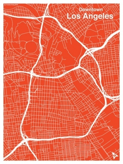 LA_map_red3.jpg (500×667) #red #map