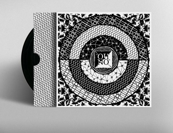 Foxygen | Oh No | Album cover on Behance #pattern #black #vinyl #stars #foxygen #circle
