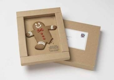 Gingerbread man direct mail #biscuit