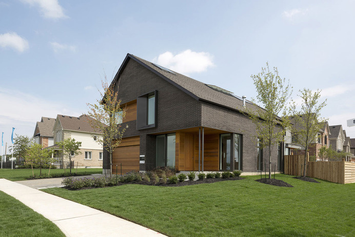 Simplicity Reigns in 100% Renewable Energy Home: Great Gulf Active House #architecture