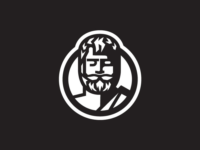 Thales Icon #human #silhouette #logo #face #chracter #shadow