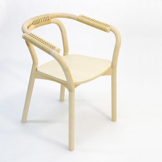 tatsuo kuroda: knot-chair #knot #chair #cord #wood #beech