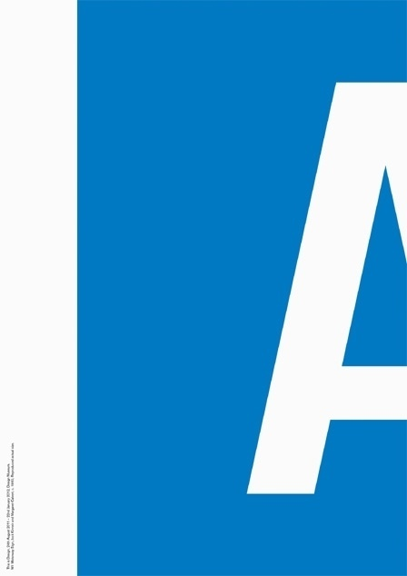 Design Museum Shop: View All Products > Artwork + Posters > This Is Design Motorway Sign Screenprint #motorway #sign #design #minimalism #poster #typography