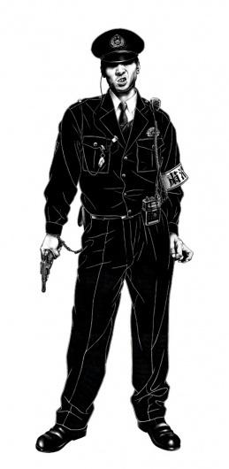 巡査 A' #police #illustration #japan