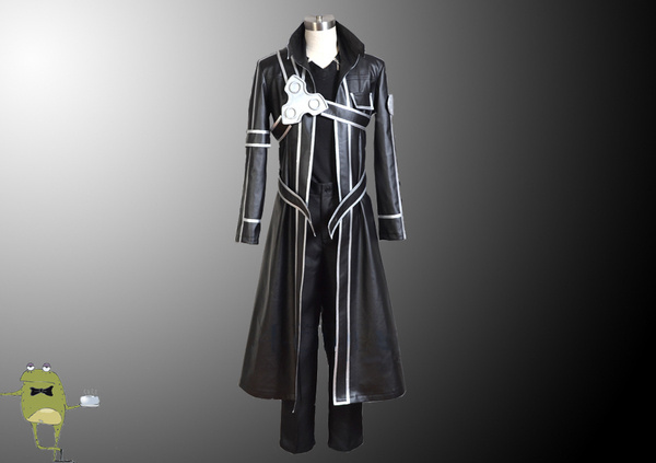 SAO Kirigaya Kazuto Kirito Cosplay Costume Leather #costume #kirito #cosplay