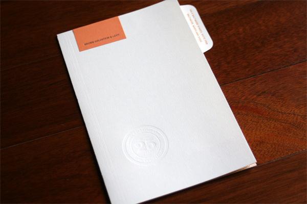 Brown Goldstein #blind #emboss #folder