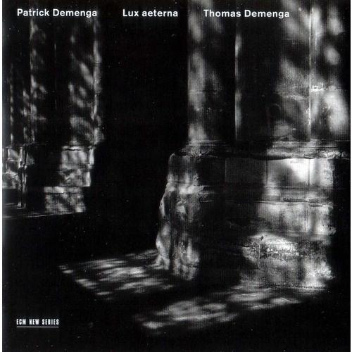 Images for Patrick Demenga / Thomas Demenga - Lux Aeterna #album #reocrds #black #minimalism #cover #ecm #helvetica