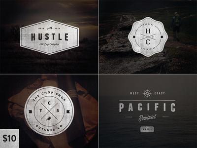 Vintage Logo Set:Volume Two #logos #design #graphic #vintage #typography