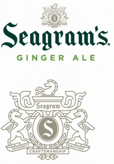 Seagram's Gingerly New Look - Brand New #blackletter #seagram #ale #logo #hatch #ginger