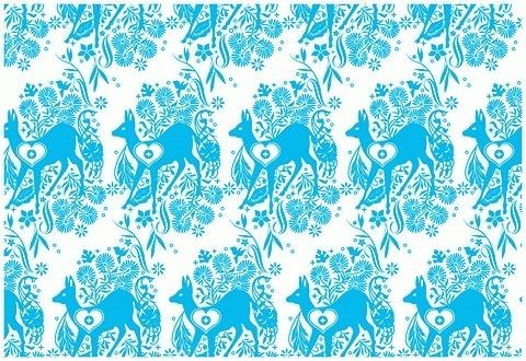 coqueterías - FFFFOUND! | katie kirk illustration - selected... #bambi #pattern #katie #turquoise #kirk