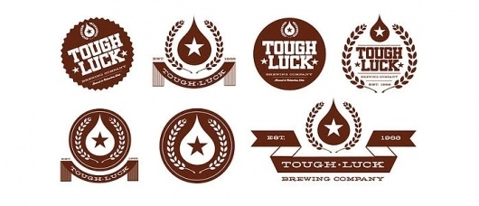 Tough Luck BeerLabels - TheDieline.com - Package Design Blog
