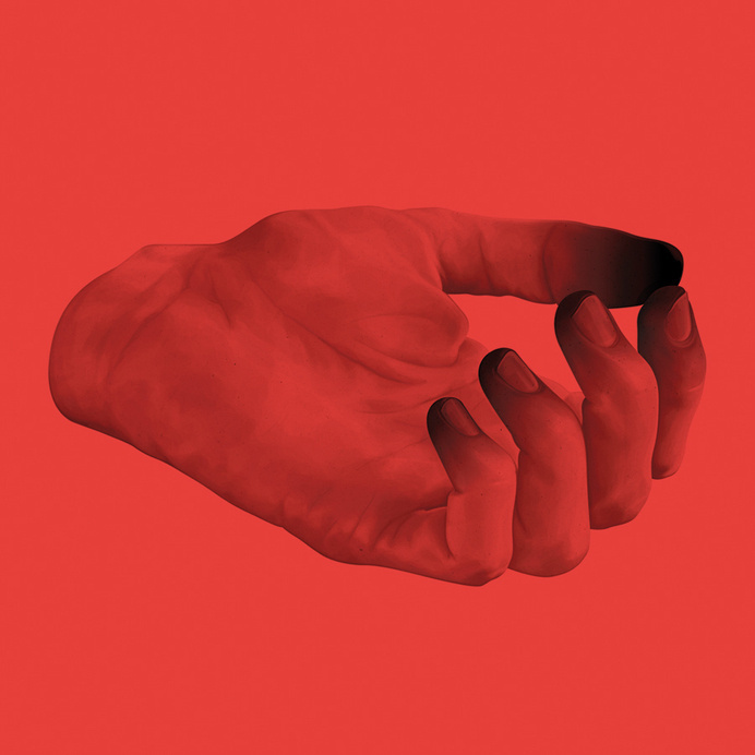 . #thumb #hand #red #drawing