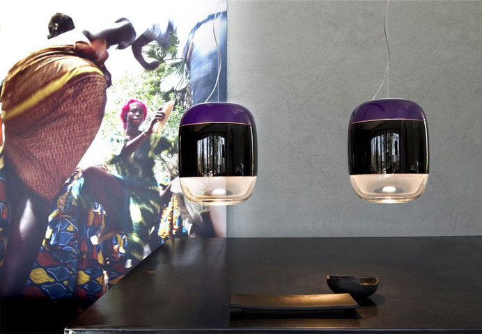 Glass Cocoon - Suspended lamp for diffused lighting design by Prandina.