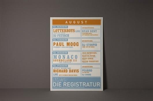 Die Registratur – Plakate #typography