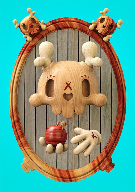 Dead Wood: 3D Illustrations by Teodoru Badiu | Inspiration Grid | Design Inspiration #dead #3d #illustrations #wood