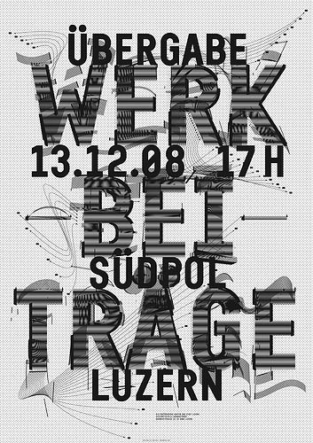 > Werkbeiträge 2008/2 #c2f #swiss #poster #typography