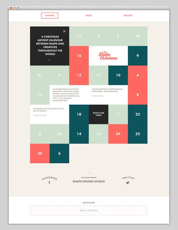 Its Shape Christmas #calendar #design #website #grid #layout #web