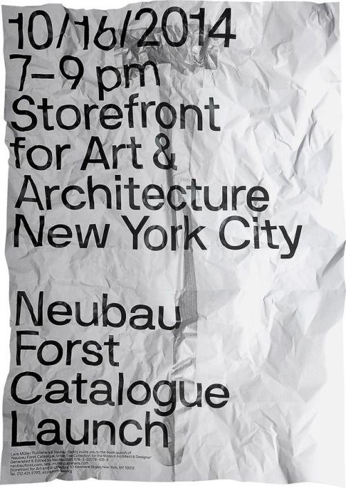 "printdesign: ""Limited Edition Print of Neubau's NBF NYC Poster Series 2014. """
