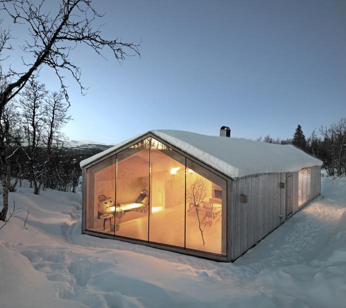 reiulf ramstad v-lodge timber cabin norway designboom #cabin