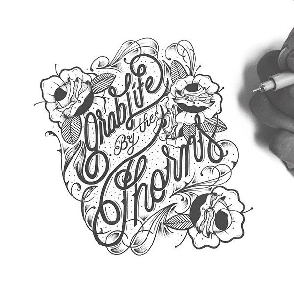 Grab Life By Raul Alejandro #script #lettering #hand #typography