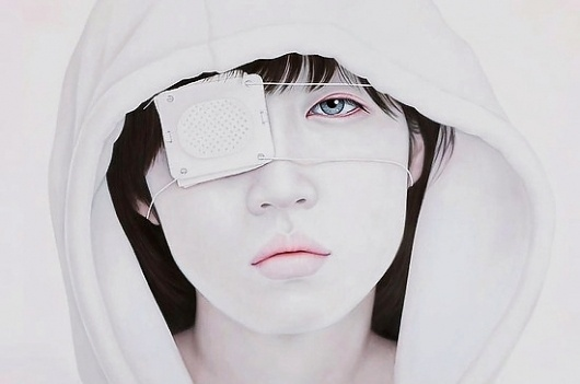 04_Adios_194X130cm_.jpg 550×365 pixels #white #yup #kwon #asian #portrait #kyung #painting #face