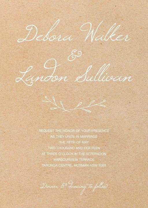 Wooden Wreath - Wedding Invitations #paperlust #weddinginvitation #weddinginspiration #invitation #cards #design #paper #print #wood #print