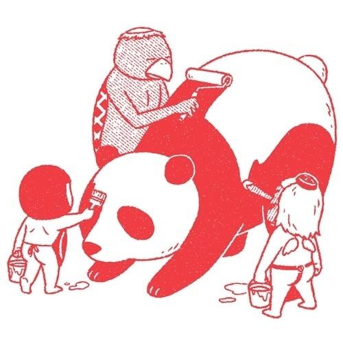 okimi.com #red #panda #okimi #illustration #japan