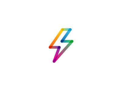 .. #thunder #logo #bolt #colorful