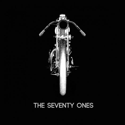 Apetree on the Behance Network #cover #type #blackwhite #bike