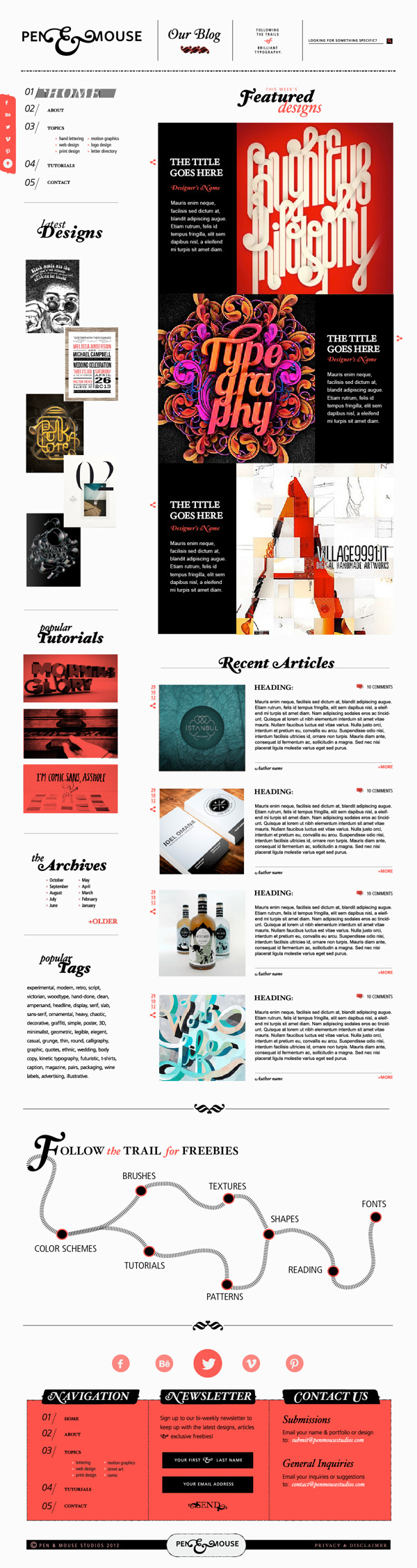 Pen&Mouse - Personal Branding #design #website #blog #layout #web #typography