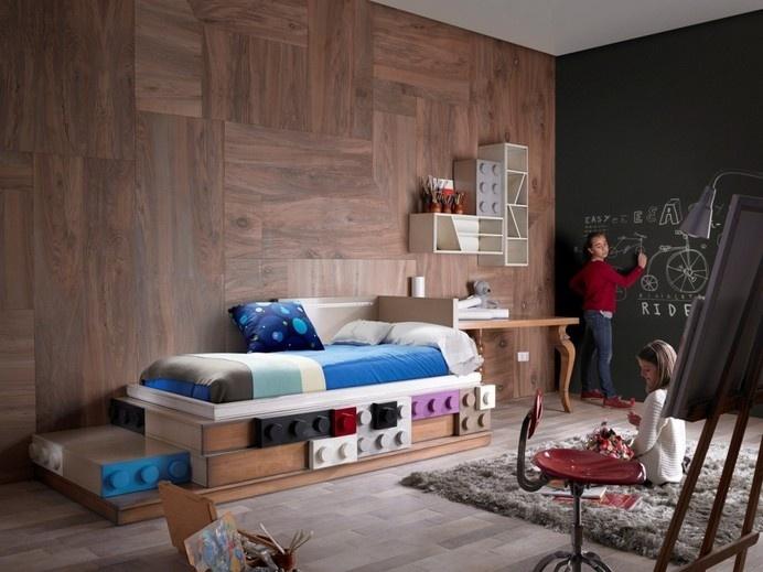 Lego furniture for children's rooms, by Lola Glamour - www.homeworlddesign.com (3) #furniture #kidsrooms #lego
