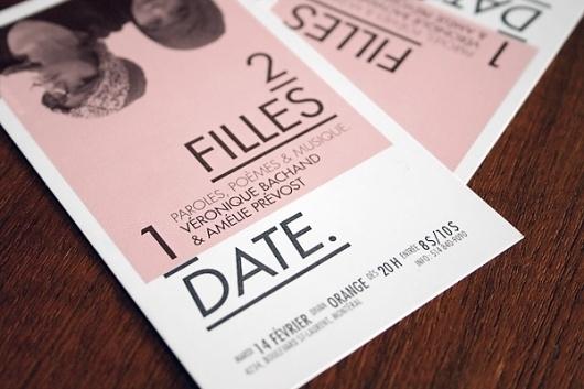 2 filles 1 «date» #date #design #show #poster #ticket