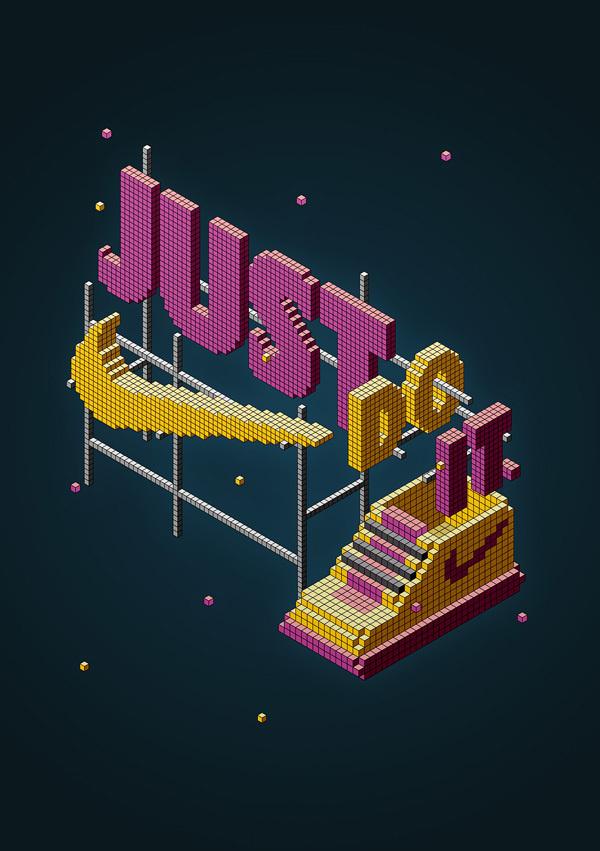 Nike experimental project on Behance #nike #illustration #isometric
