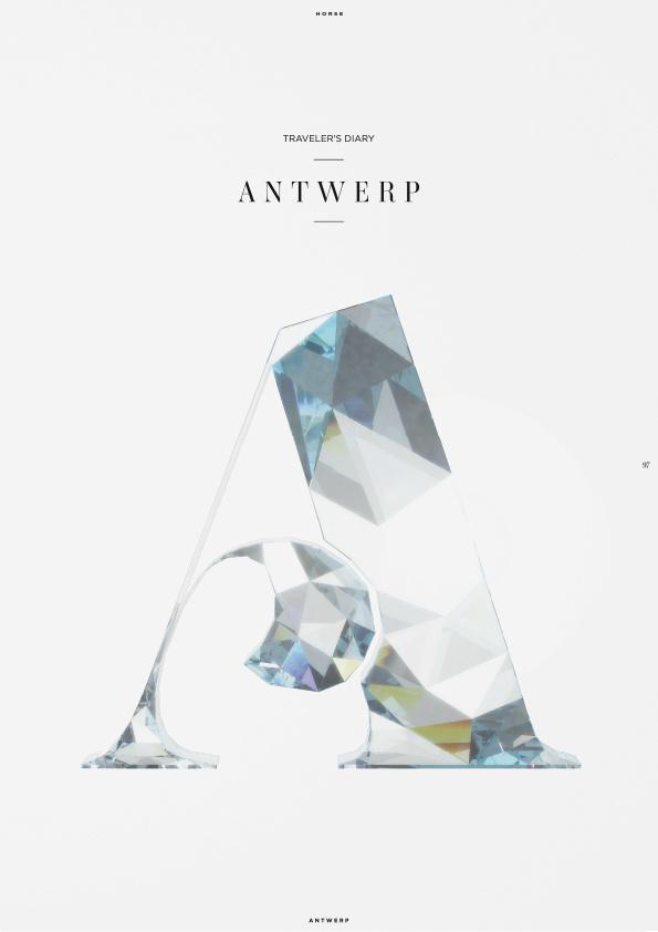 Horse (Illustration) on Behance #antwerp #diamond #typography