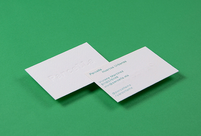 Parcella by Ministry #graphic design #business cards #green